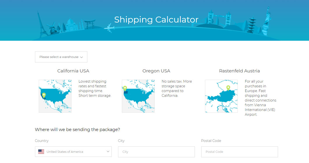 Shipito International Shipping Calculator